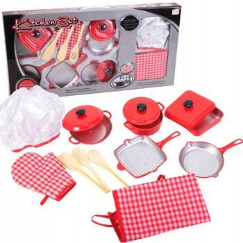 MalPlay, zestaw kuchenny fartuch rękawica wałek trzepaczka-MalPlay
