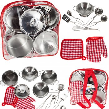 MalPlay, zestaw kuchenny metalowych garnków i akcesoriów kuchennych-MalPlay
