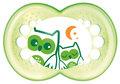MAM, Night, Smoczek uspokajający, 6m+, Zielone Sowy-MAM