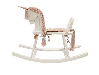MamaMiaKids, koń na biegunach bujak Jednorożec, różowy