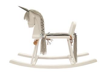 MamaMiaKids, koń na biegunach bujak Jednorożec, szary