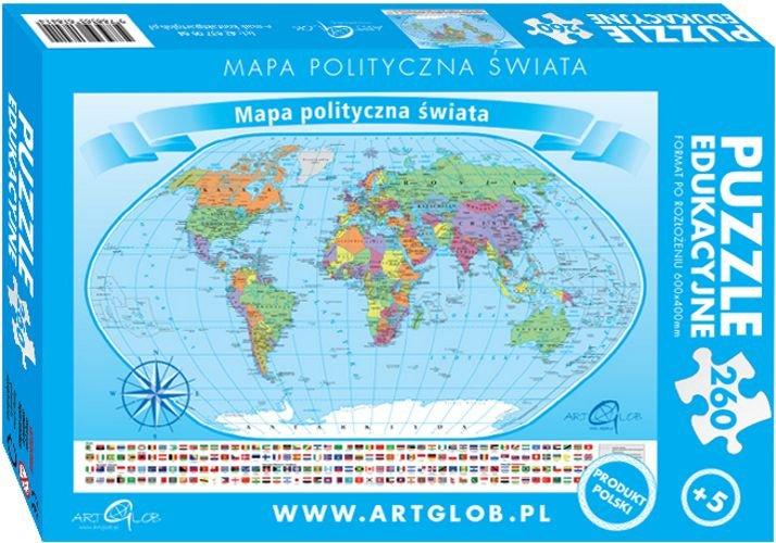 Tablica Mapa Magnetyczna Swiata Polityczna 1 20 Mln 200x122 Cm