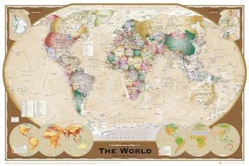 Mapa Świata Triple Projection - plakat 91,5x61 cm-GBeye