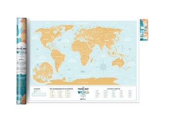 Mapa zdrapka świat, Travel map Lagoon world wersja polska, błękitna-1DEA.me