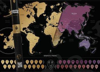 Mapa zdrapka, Świat - wersja angielska