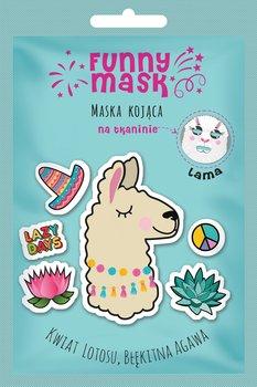 Marion, Funny Mask, maseczka na tkaninie kojąca Lama, 1 szt.-Marion