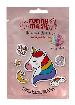 Marion, Funny Mask, maseczka na tkaninie nawilżająca Jednorożec, 1 szt.-Marion
