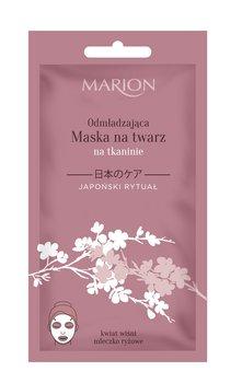 Marion, Japoński Rytuał, maska na twarz odmładzająca na tkaninie, 17 g-Marion