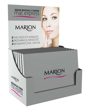 Marion, Mat Express, bibułki matujące z pudrem, 6x100 szt.-Marion