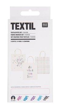 Markery do tkanin, Fashion, 5 sztuk