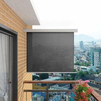 Markiza balkonowa boczna VIDAXL, szara, 150x200 cm-vidaXL