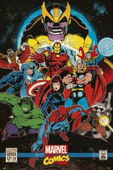 Marvel Comics Infinity Retro - plakat 61x91,5 cm-Grupoerik