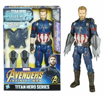Marvel, figurka Titan Hero Power FX Kapitan Ameryka-Hasbro