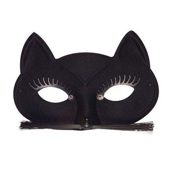 Maska kota z wąsami, czarna-Winmann