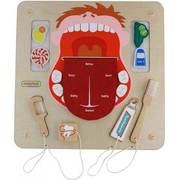 Masterkidz, tablica edukacyjna pielęgnacja jamy ustnej z listwami do montażu-Masterkidz
