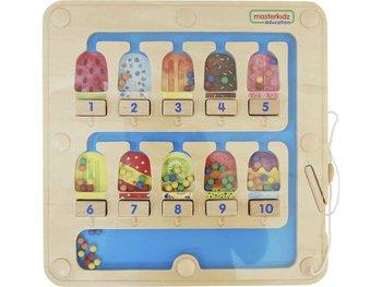 Masterkidz, zabawka edukacyjna Labirynt Magnetyczny Liczenie 1-10-Masterkidz