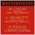 Masterpieces with Pavarotti, Callas & Tebaldi-Pavarotti Luciano, Callas, Tebaldi