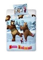 Masza i Niedźwiedź, Komplet pościeli, 160x200 cm