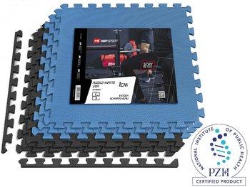 Mata puzzle EVA 1cm czarno/niebieska - 6 sztuk-Hop-Sport