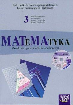 Matematyka 3. Podręcznik + CD-Babiański Wojciech, Chańko Lech, Czarnowska Joanna