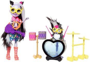 Mattel, lalka Enchantimals, Zestaw z perkusją-Mattel