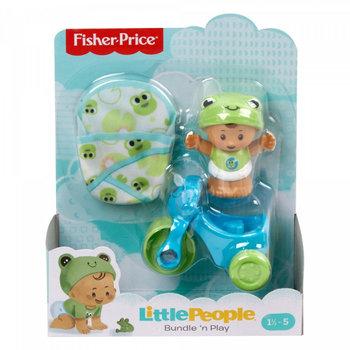 Mattel, Little People, figurka Bobas z kocykiem i rowerem-Mattel