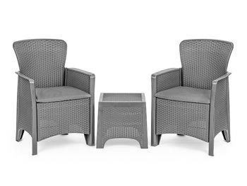 Meble ogrodowe zestaw kawowy stół krzesła 2x fotel-Modernhome