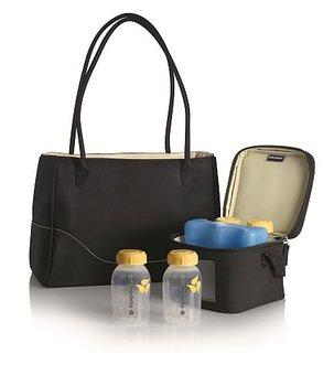 Medela, Torebka City Style z torbą termoizolacyjną i 4 butelkami, zestaw-Medela