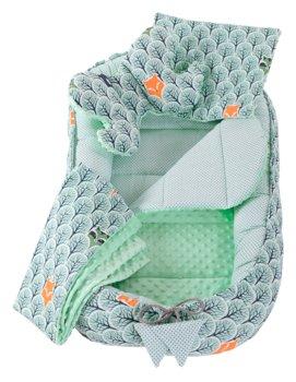 Medi Partners, Zestaw Kokon/Gniazdo niemowlęce,  5 elementowy, Las z miętą-Medi Partners