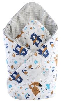Medi Patrners, Becik/Rożek niemowlęcy, bawełniany, dwustronny, Boho Animals/Igiełki szare-Medi Partners