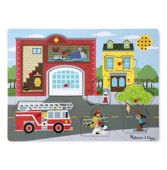 Melissa & Doug, puzzle dźwiękowe Remiza strażacka-Melissa & Doug