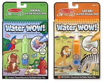 Melissa & Doug, zestaw kolorowanek wodnych Zwierzaki-Melissa & Doug