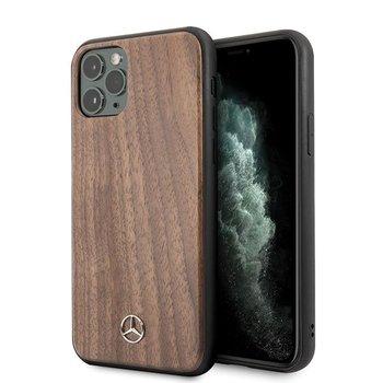 Mercedes MEHCN65VWOLB iPhone 11 Pro Max hard case brązowy/brown Wood Line Walnut-Mercedes