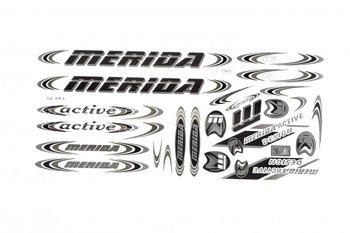 Merida, Zestaw naklejek KR4, czarno-grafitowy, 27 elementów-Merida