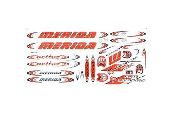 Merida, Zestaw naklejek KR4, pomarańczowy, 27 elementów-Merida