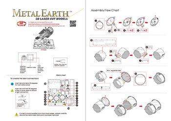 Metal Earth Model Do Składania Teleskop Hubble Telescope