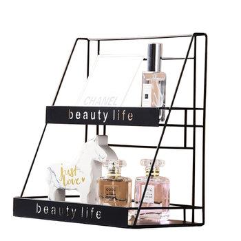 Metalowa dwupoziomowa półka styl LOFT na kosmetyki-HEDO