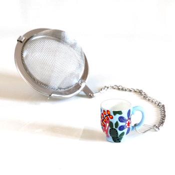 Metalowy zaparzacz Filiżanka kulka - idealny do parzenia herbaty, ziół, wielokrotnego użytku-Cup&You