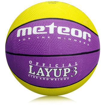 Meteor, Piłka do koszykówki, LAYUP, fioletowy, rozmiar 3-Meteor