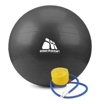 Meteor, Piłka gimnastyczna, do ćwiczeń 75cm, zestaw-Meteor