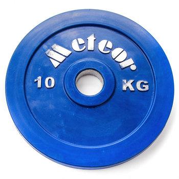 Meteor, Talerz obciążenie do sztangi, 10 kg, niebieski-Meteor