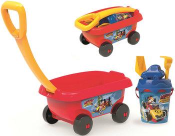 Miki i Raźni Rajdowcy, wózek i wiaderko z akcesoriami do piasku, 867003-Miki i Raźni Rajdowcy