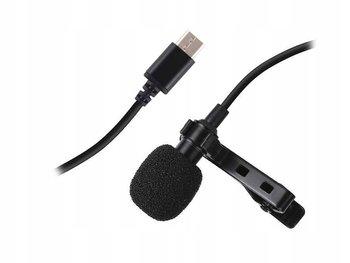 Mikrofon Krawatowy Klips Na Usb Type-c Usb-c Do Telefonu / Smartfona-Puluz