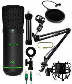 Mikrofon Novox NC-1 Game + statyw biurkowy + pop filtr + kosz antywibracyjny