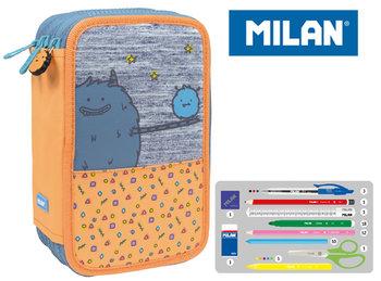 Milan, piórnik 3-poziomowy z wyposażeniem, Mimo, pomarańczowy-Milan