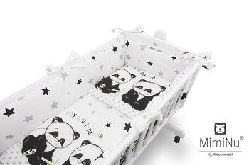 MimiNu by Kieczmerski, 6-elementowy zestaw do kołyski, Panda, biało-czarny-MimiNu by Kieczmerski