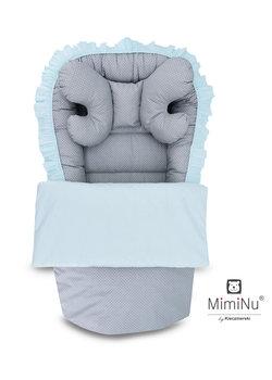 MimiNu by Kieczmerski, Kokon niemowlęcy/Poduszeczka stabilizująca główkę/Kołderka, Szary, zestaw-MimiNu by Kieczmerski
