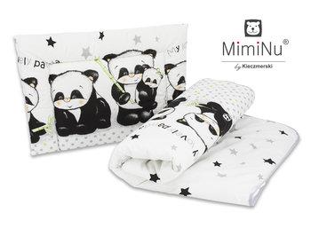 MimiNu by Kieczmerski, Kołdra, Poduszka, Panda, Biały/Szary, 100x135 cm -MimiNu by Kieczmerski
