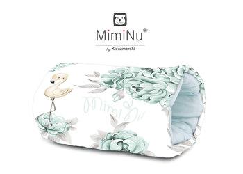 MimiNu by Kieczmerski, Mufka do karmienia i noszenia dziecka, peonie, biało-miętowa-MimiNu by Kieczmerski