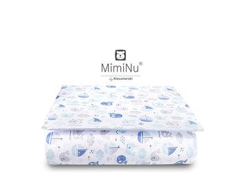 MimiNu by Kieczmerski, Pościel niemowlęca, 2-elementowa, Bawełna, Rybki, Błękitny, 100x135 cm  -MimiNu by Kieczmerski